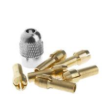 6Pcs Brass Drill Chuck Collet Bits 1.0-3.2mm + M8 * 0.75 Fits Rotary Tools