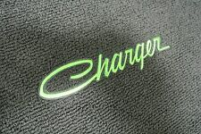 1968-78 Dodge Charger 4 Piece Floor Mats Set GREEN Embroidery