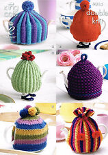 King Cole Double Knit Knitting Pattern Merino Blend DK Tea Cosy Collection 9014