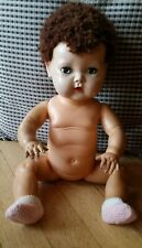Vintage American Character Tiny Tears Caracul Wig Hard Plastic Head Rubber Body