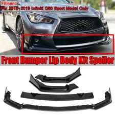 FOR 2018-2019 Infiniti Q50 Sport Carbon Fiber Front Bumper Lip Spoiler  !*