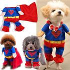 Fancy Pet Cat Dog Puppy Cotton Clothes Costume Superman Suit size XS/S/M/L/XL