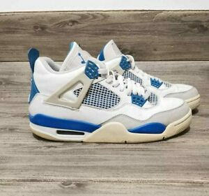 Nike Air Jordan 4 Retro Military Blue White Mens sz 9 308497-105
