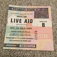 Queen Bowie U2 Live Aid ticket Wembley Stadium 13/07/85 #11934
