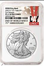 2020 End of World War II V75 American Eagle Silver Proof NGC 69 Presale