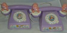 Vintage Care Bears Battery Inter-com Toy Purple Telephone Set   P