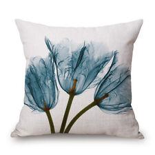 45x45cm Modern Ink Painting Flower flax Throw Pillow Case Waist Cushion L2Q3