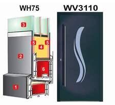 Haustür Türen  WH75 Alumium Tür mit Kunststoff WV3110 Modern+Edelstahl Griffe
