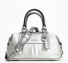 NWT Coach Ashley Convertiable Duffle 15445 White/Silver Leather Shoulder Bag