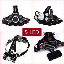Litwod Z25 headlight 5 LED T6 Headlamp Head Lamp Fishing hunting Light Flashligh
