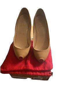 Christian Louboutin Patent Camel 120 Heel Size 36.5/6.5
