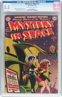 Mystery in Space #2 (DC, 1951) CGC VG- 3.5 Off-white to white pages.