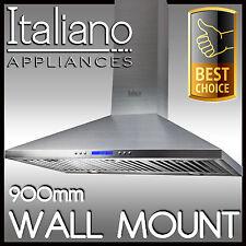 WALL MOUNT - RANGE HOOD 90cm 900mm STAINLESS STEEL CANOPY RANGEHOOD - 10A1