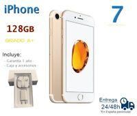 IPHONE 7 En 128GB Doré Reconditionné Libre / Qualité A Boîte Et Accessoires