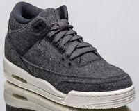 Air Jordan 3 Retro BG Wool III youth lifestyle sneakers NEW grey 861427-004