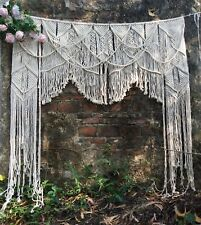 Boho Large Macrame Wall Hanging Door Window Curtain Wedding Backdrop Arch Arbor