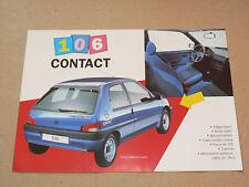 Prospectus PEUGEOT 106 CONTACT 1994 brochure prospekt  car catalogue