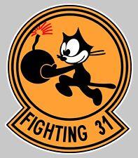 GRUMMAN TOMCAT F14 BLASON VF 31 TOMCATTERS FIGHTING 31 AVION STICKER FA026