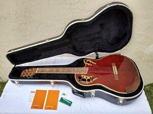 Ovation Celebrity Deluxe CS-253 AC/EL Classical Guitar, OP24+ Electronics, OHSC