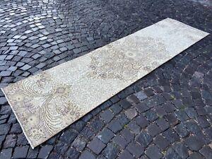 Vintage rug, Turkish rug, Bohemian rug,Runner rug,Wool rug,Carpet | 2.6 x 9.6 ft