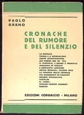 ORANO Paolo, Cronache del rumore e del silenzio