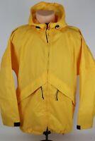 L.L. Bean Outdoors Women's Medium Yellow Nylon Full Zip Windbreaker Rain Jacket