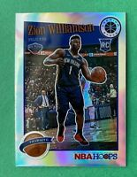 Zion Williamson 2019-20 NBA Hoops Premium Stock Tribute SILVER RC #296 PELICANS