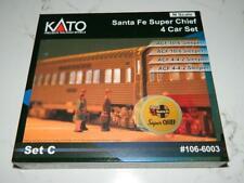 Kato n Scale #106-6003 Santa Fe Super Chief 4 Car Set C , VTG. NIB