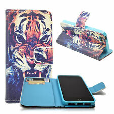 New Tiger Wallet Magnetic Flip Men Leather Cover Case For Apple iPhone 5 5S 5G