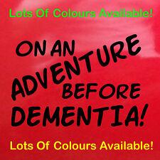 Gold Auf An Adventure Before Dementia! Aufkleber Auto Wohnmobil Lustiger 80cm