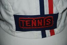 VINTAGE TENNIS CAP HAT SPORT FRENCH FRANCE FLAG WHITE Stretch Fit