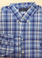 Ralph Lauren Polo Pony Plaid Check Long Sleeves Classic Fit Dress Shirt Big Tall