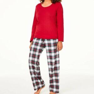 Matching Family Outfits Women's Size Large Christmas Pajama Mix It Stewart Plaid