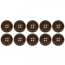 10 Botón Set de madera marrón oscuro Redondo Artesanal Decoración Ropa coser