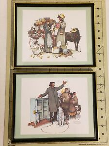 Lot of 2 Framed Prints signed by Rockwell -Prints- used in very good condition