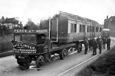 Zse-27 Train Carriage On Steam Lorry At Bridgwater, Somerset. Photo