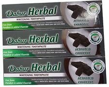 Dabur Herbal Pasta de dientes-Carbón Activado - 6 X 100 ML Tubos-Flúor Gratis