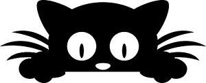 Peeking Pet Cat Animal decal vinyl sticker wall window vehicle display