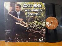 Zoot Sims / Bucky Pizzarelli - Zoot Sims With Bucky Pizzarelli Vinyl Jazz LP VG+
