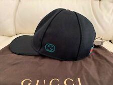 NEW GUCCI BLACK BASEBALL CAP HAT ALL SIZES S M L XL