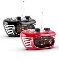 TOP: UHREN RADIO WECKER NACHTTISCH GROßES LED DISPLAY DUAL ALARM SLEEP TIMER UKW