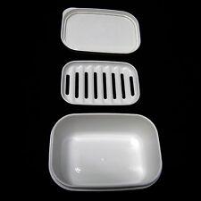 Portable rectangulaire savon cas récipient hermétique savon plateau voyage accessoire