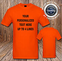 Custom Personalized T Shirt Your Design Your Text Here (16 Shirt Colors SM-6XL)