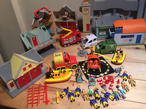 Huge FIREMAN SAM Bundle, With Buildings, Vehicles, Track And Figures.