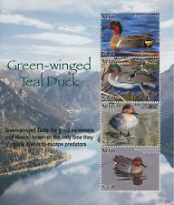 More details for nevis 2021 mnh birds on stamps green-winged teal ducks teals 4v m/s