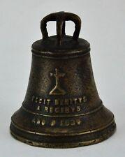 "Filipino 1830 Bronze bell with inscription "" FECIT BENITUS A REG. (BI#MK/180320)"