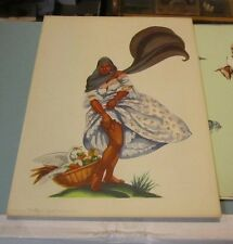 1959 Moore McCormack SS Brasil Cruise Ship Menu Paraguay Woman Rolling A Cigar