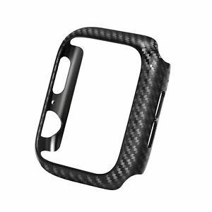 Real Carbon Fiber Case Cover For Apple Watch Series 5 4 3 2 1 Carbon Fibre Case