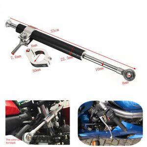 33cm Aluminum Steering Damper Stabilizer 30mm Clamp Universal For Honda Kawasaki