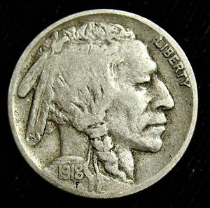 1918-D 5C Buffalo Nickel. Better Date